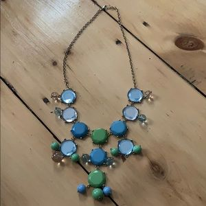 Blue and Green Bubble Statement Necklace